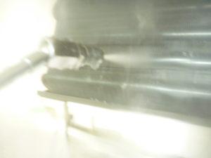 東京都大田区南蒲田エアコン熱交換器(アルミフィン)洗浄中