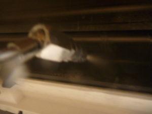 東京都杉並区和泉エアコンアルミフィン(熱交換器)洗浄中