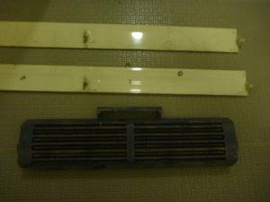 神奈川県川崎市幸区北加瀬エアコンルーバー・クリーニング前