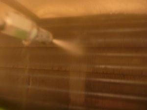 東京都大田区上池台、ダイキン2011年製AN40MRP高圧洗浄中