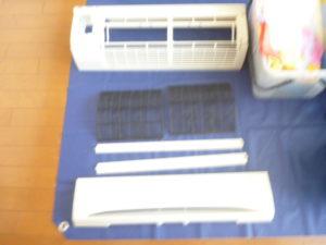 神奈川県川崎市幸区、東芝2002年製RAS-4061SD分解パーツ類洗浄後