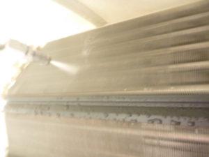 神奈川県川崎市幸区、サンヨーSAP-KZ22Pエアコン洗浄中