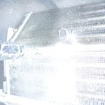 東京都大田区千鳥、ナショナル2006年製CS-H286A高圧洗浄中