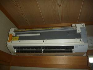 日立RAS-V25Bフィルター自動お掃除機能付きエアコンクリーニング後の画像